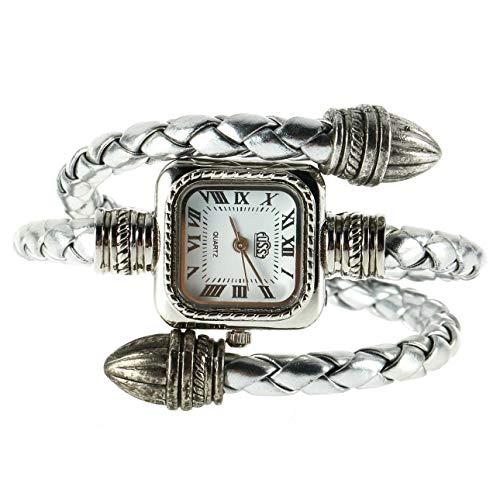 Liobaba Bracelet Watch,Lady Women Girl Snake Style Bangle Bracelet Quartz Wrist Watch Japanese Movement Quartz