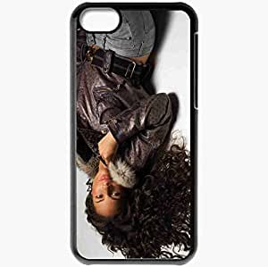 Personalized iPhone 5C Cell phone Case/Cover Skin Alicia Keys Musicians Famous For Being Popular recording artist Black