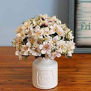 Lopkey Gardening Realistic Artificial Flowers Silk Spring Delphinium Violet Hyacinth Wedding Flower 20