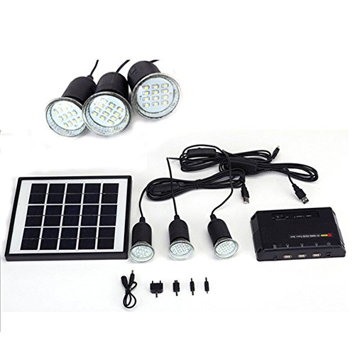 YHXK-4W-Solar-Panel-Lighting-Home-System-Kit-USB-Charger-with-3-LED-Light-Bulb-for-Countryard-Camping-Fishing-Emergency-Security-Lamp-Can-Charge-Mobile-Phone-Power-Bank