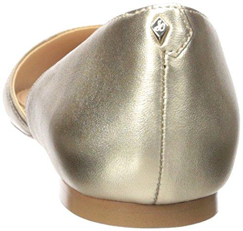 sam 's Metallic Rodney edelman Gold Molten Flat Leather Ballet Women rxOrnwqp7