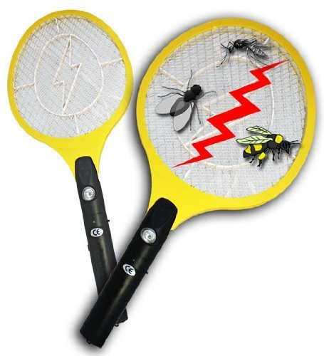 BugKwikZap TM (Trademarked) Bug Zapper Electric Fly Swatter / Model - Standard / Standard Quality / 2300 Volts / 2 AA Batteries / Light / 1PK