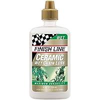 Finish Line Ceramic Wet Lubricante Cadena de Bicicleta, 4 oz / 120 mL, 118,29 ml
