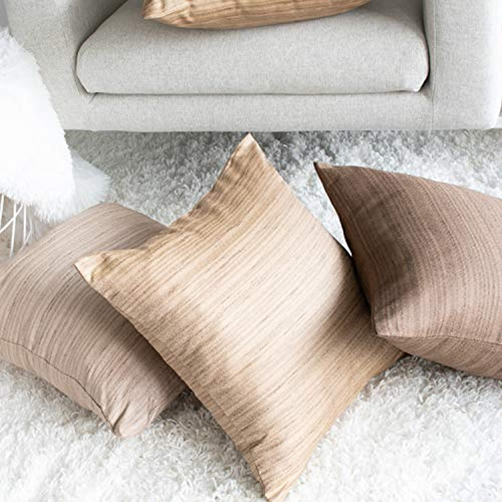 Dark Brown Throw Pillows.Details About Dark Throw Pillow Covers Brown For Sofa Couch Bed 20x20 Inch Pack 2 Home