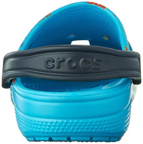 Summer Electric Fun Blue Crocs Mule Classique vY5HqH