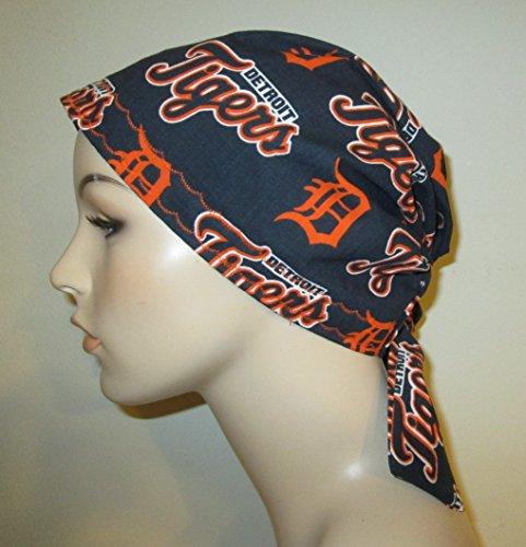 Scrub Cap Detroit Tigers Chemo Hat Alopecia Head Cover Cancer -