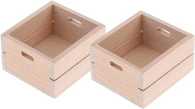 Amazon.es: CUTICATE 2 Unids 1/12 Mini Caja de Almacenamiento de Madera, Adecuado para Casas de Muñecas y Muñecas, Agregando un Ambiente de Vida para su Casa de Muñecas: Juguetes y juegos