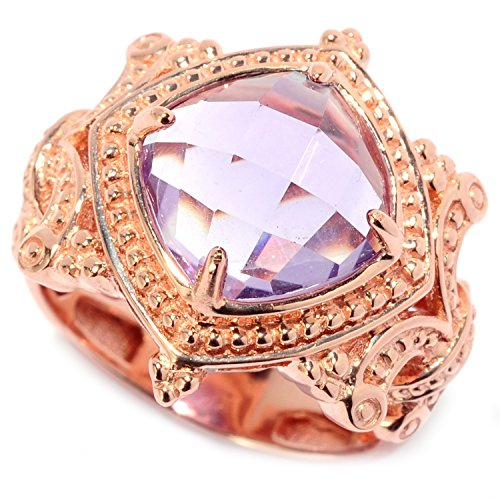 Michael Valitutti Palladium Silver Pink Amethyst Cocktail Ring