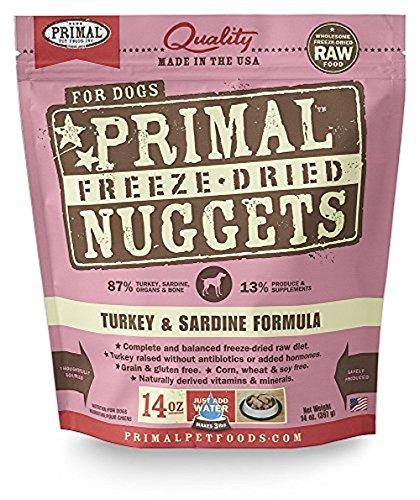 - Primal Pet Foods Freeze-Dried Canine Turkey And Sardine Formula, 14 Oz