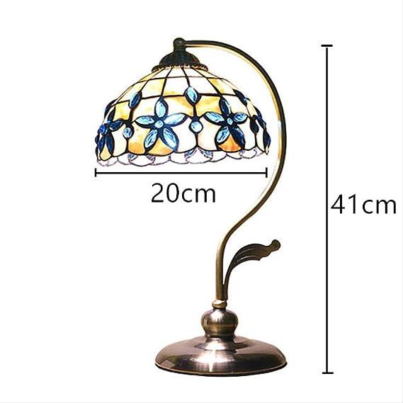SQWK Lámpara de mesa Azul concha lila Pantalla clásica Escritorio ...