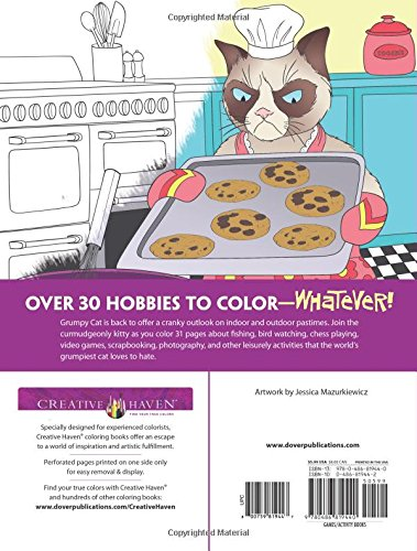 Amazon Creative Haven Grumpy Cats Least Favorite Hobbies Coloring Book Books 9780486819440 Jessica Mazurkiewicz