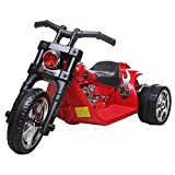 6V Electric Kids Twin Motor Hawk Ride on Chopper Bike-working headlight/Rear Light, Music and Sounds (Red)