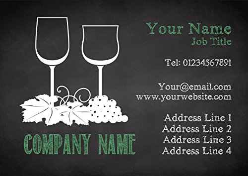 Cards Chalk Personalized Wine Grapes Chalk Green Green Business qBnx0pdw