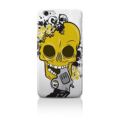 Cell Shell ® iPhone 6 (4.7) Case / Cover / Custodia / Skin Rigida in Plastica / Snap On - Disegno Moderno Teschio giallo e bianco