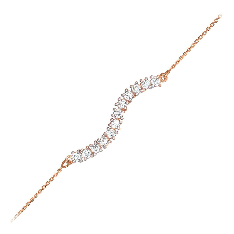 7.5 Inch 14k Rose Gold Journey Bracelet with Extender