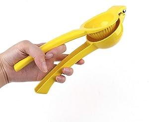 asika Manual Juicer Citrus Lemon Squeezer,Fruit Juicer Lime Press Metal,Professional Hand Juicer Kitchen Tool(Yellow