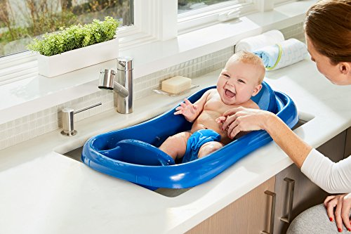 Large Product Image of The First Years Sure Comfort Deluxe Newborn To Toddler Tub, Blue