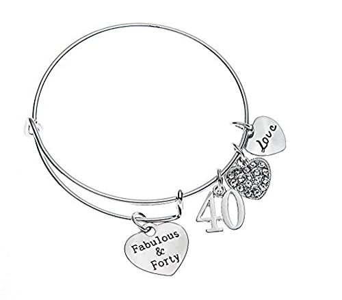 Infinity Collection 40th Birthday Gifts For Women Expandable Charm Bracelet Ideas Gift Her