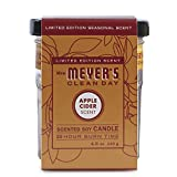 Mrs. Meyer's Clean Day Soy Candle Small, Apple Cider, 4.9 Ounce