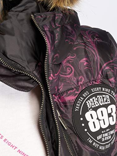 De Winter Mujeres Yakuza Negro Chaquetas Skull Invierno Ornamental Teddy EcaAq