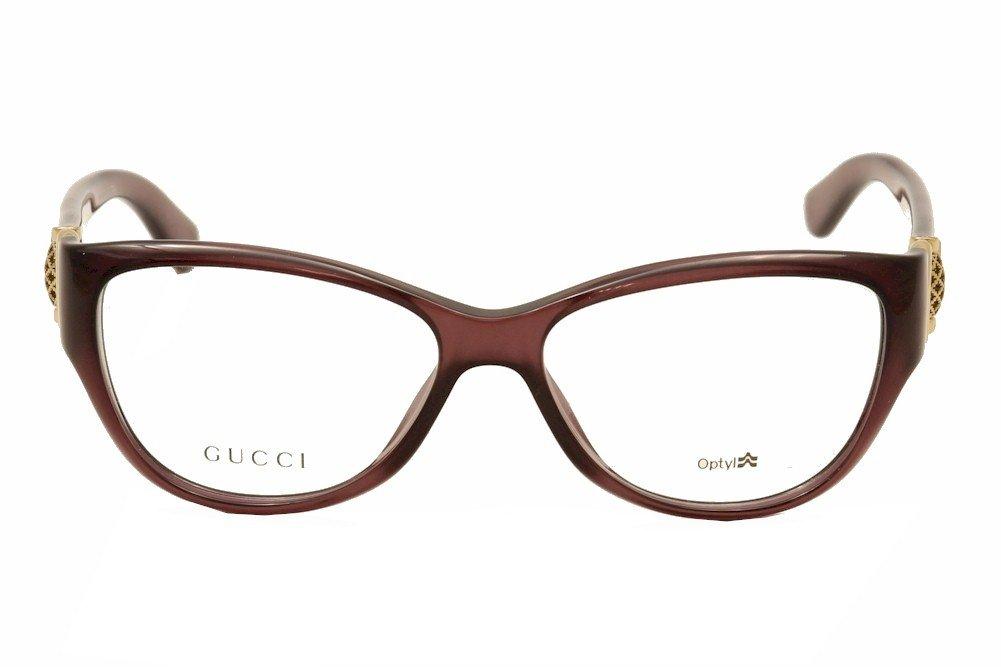 e95708291c8 GUCCI 3714 Eyeglasses 00D0 Tropical Burgundy 54-15-120  Amazon.co.uk   Health   Personal Care