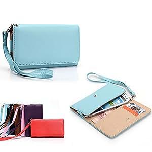 Universal Ladies Wristlet wallet : T-Mobile Prepaid LG Optimus F3 in baby blue