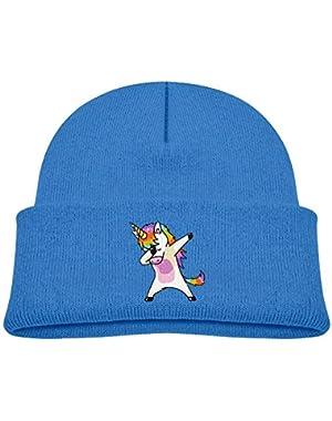 Cute Unicorn Printed Baby Boy Girls Winter Hat Beanie