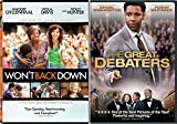 Great Debaters & Won't Back Down DVD 2 Pack Drama True Story Movie Set