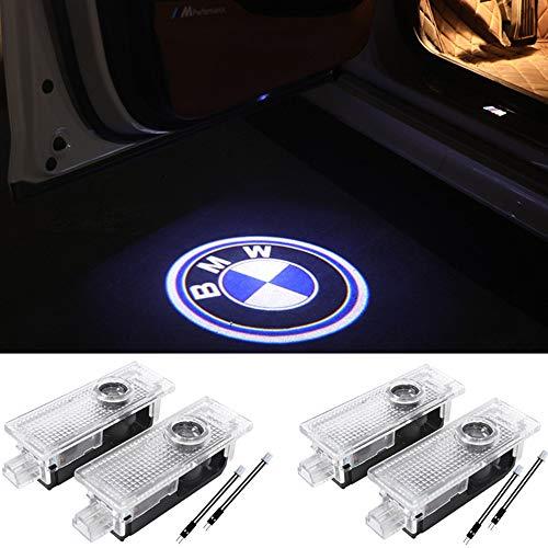 4Pcs Car Door light Ghost Shadow Welcome Light Logo Projector Emblem Accessories Courtesy Step Lights For BMW X5 E70 E90 E60 E87 F20 E92 E91 E61 F11 F18 E63 E64 F12 E65 X1 X3 X6 GT 3 5 6 7 X GT Series