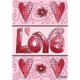 Love Hearts Valentine's Day Garden Flag Briarwood Lane 12.5