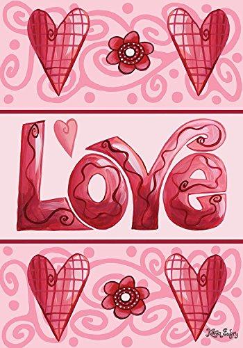 Love Hearts Valentine's Day Garden Flag