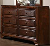 Homelegance Owens 6 Drawer Dresser & Mirror in Warm Cherry - (Dresser Only)