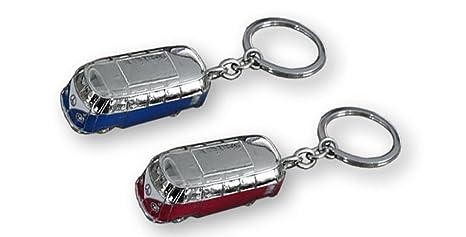 Llavero diseño furgoneta. Acero inox. 2 colores: rojo o azul ...