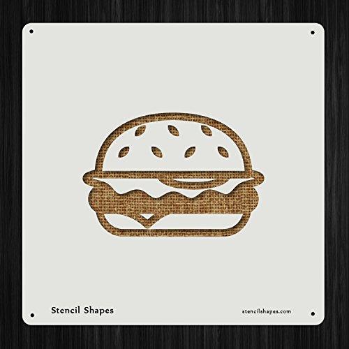 (Hamburger Burger Dinner Eat Food, Style 7487 DIY Plastic Stencil Acrylic Mylar Reusable)