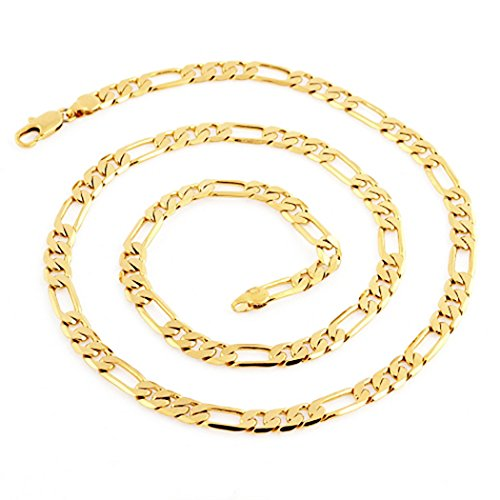 Followmoon Cool 18K Gold Plated Figaro Link Necklace Chain (18)