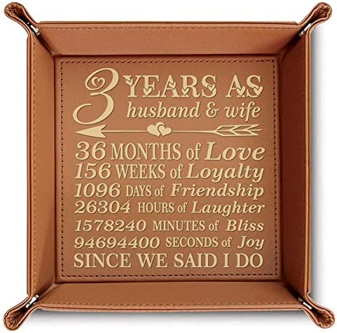 BELLA Husband Engraved Leather Rawhide product image