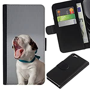 All Phone Most Case / Oferta Especial Cáscara Funda de cuero Monedero Cubierta de proteccion Caso / Wallet Case for Apple Iphone 6 // Puppy Yawning Beagle Baby Canine Dog