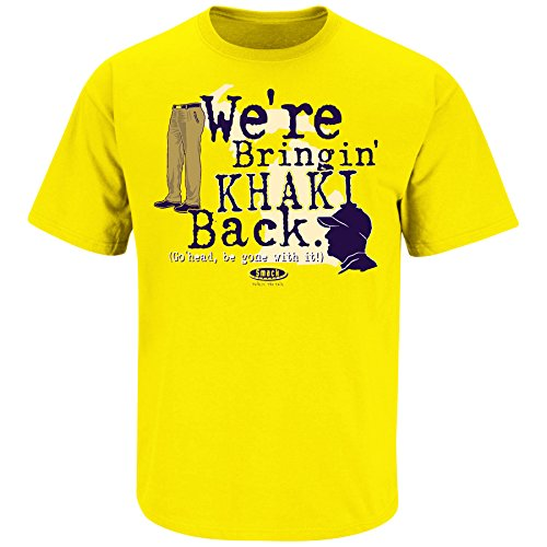 Michigan Football Fans. We're Bringing Khaki Back. Maize T Shirt (Sm-5X) (Large)
