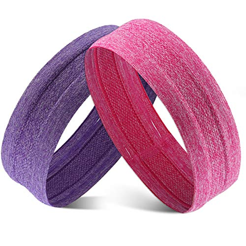 Obacle Silicone Headband Sweatband Non Slip Headbands Thin Lightweight Breatheable Durable High Elastic Head Band for Men Women Outdoor Sports Running Jogging Hiking Exercising Yoga Workout ()