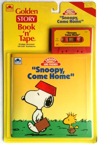 1987 ''Snoopy, Come Home'' Snoopy Golden Story Book 'n' Tape by Golden Books