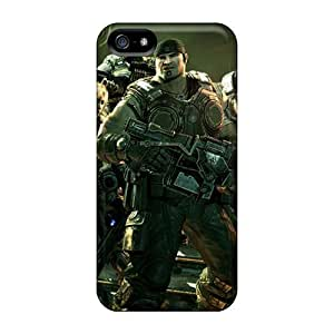 Flexible Tpu Back Case Cover For Iphone 5/5s - Gears Of War 3