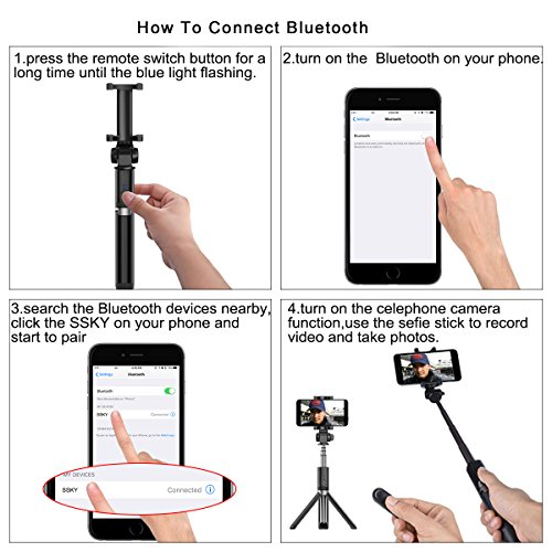 low-cost DATONG Selfie Stick Bluetooth Extendable Foldable