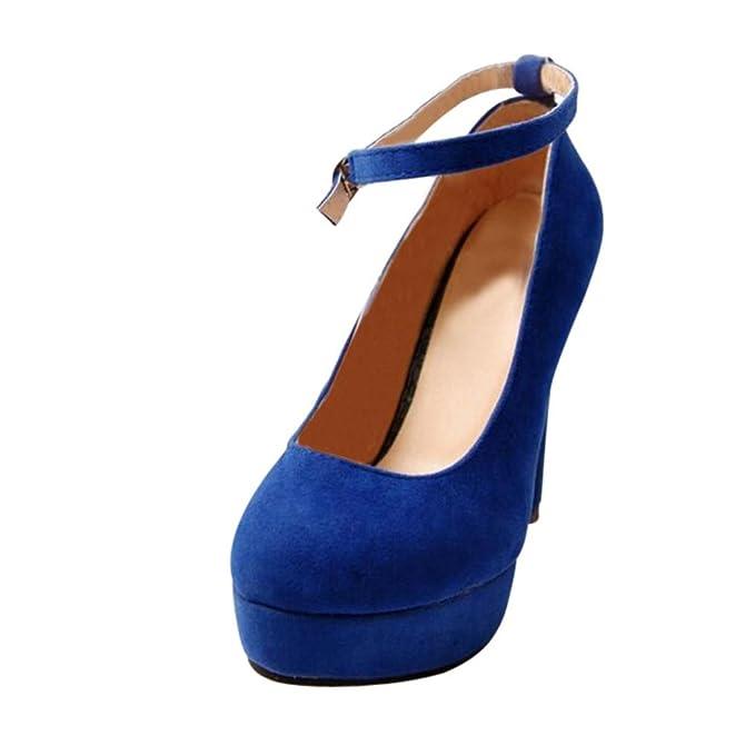 5556ee46 Tacones de mujer Covermason Correa de tobillo Zapatos de tacones altos  Bombas de
