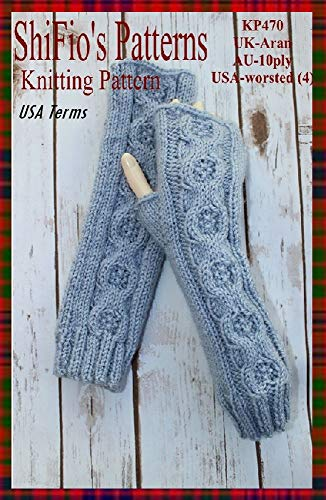 Knitting Pattern - KP470 - ladies fingerless gloves / open mitts / wrist warmers- USA Terminology