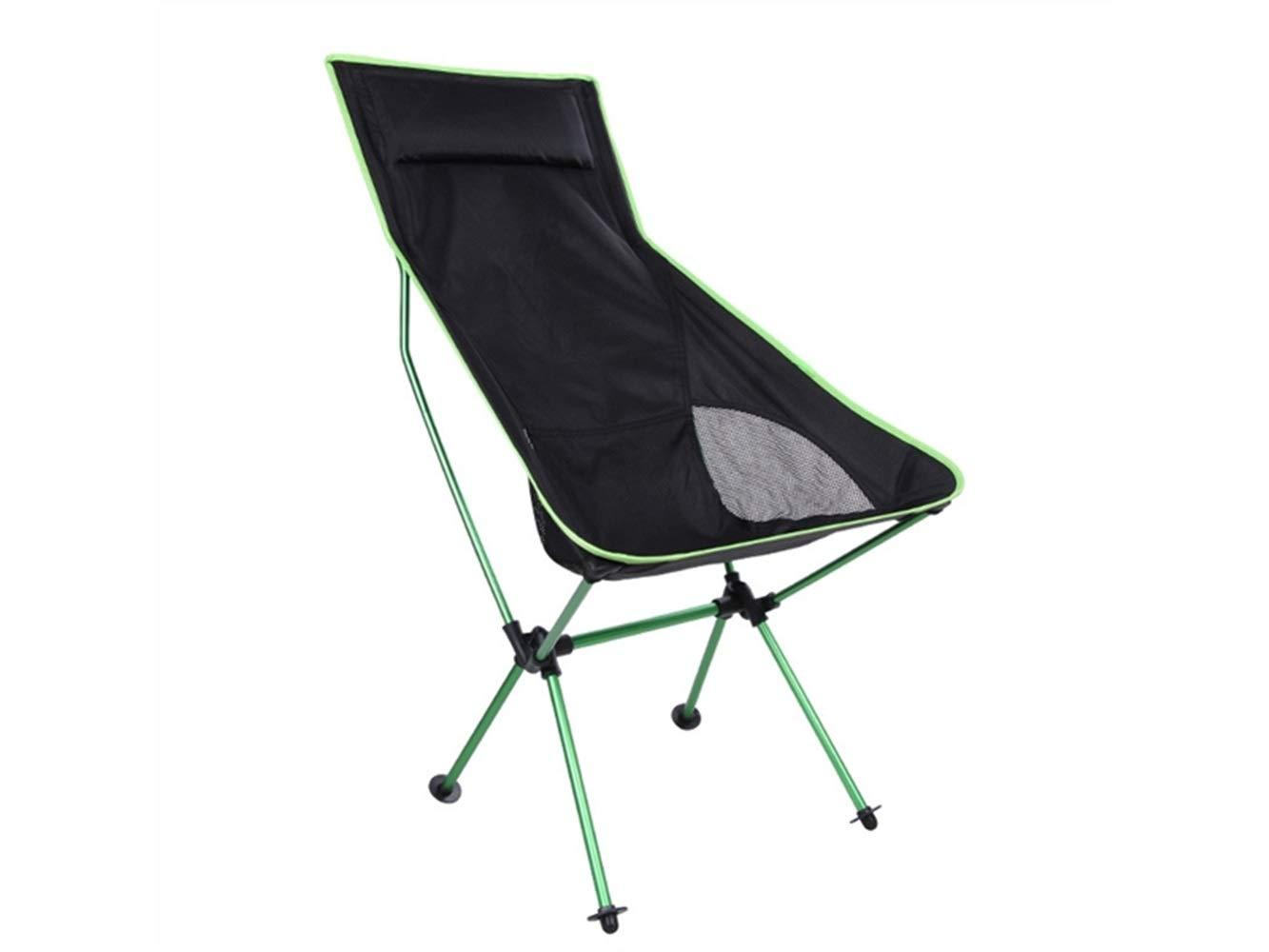 LMKIJN Bequemer Stuhl Outdoor-Klapp Angeln Stuhl Liege Camping Stuhl Strand Liege für Camping und Angeln (grün) für den Urlaub