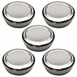 Korean Traditional Style Stainless Steel Rice Bowl with Lid Set of 5