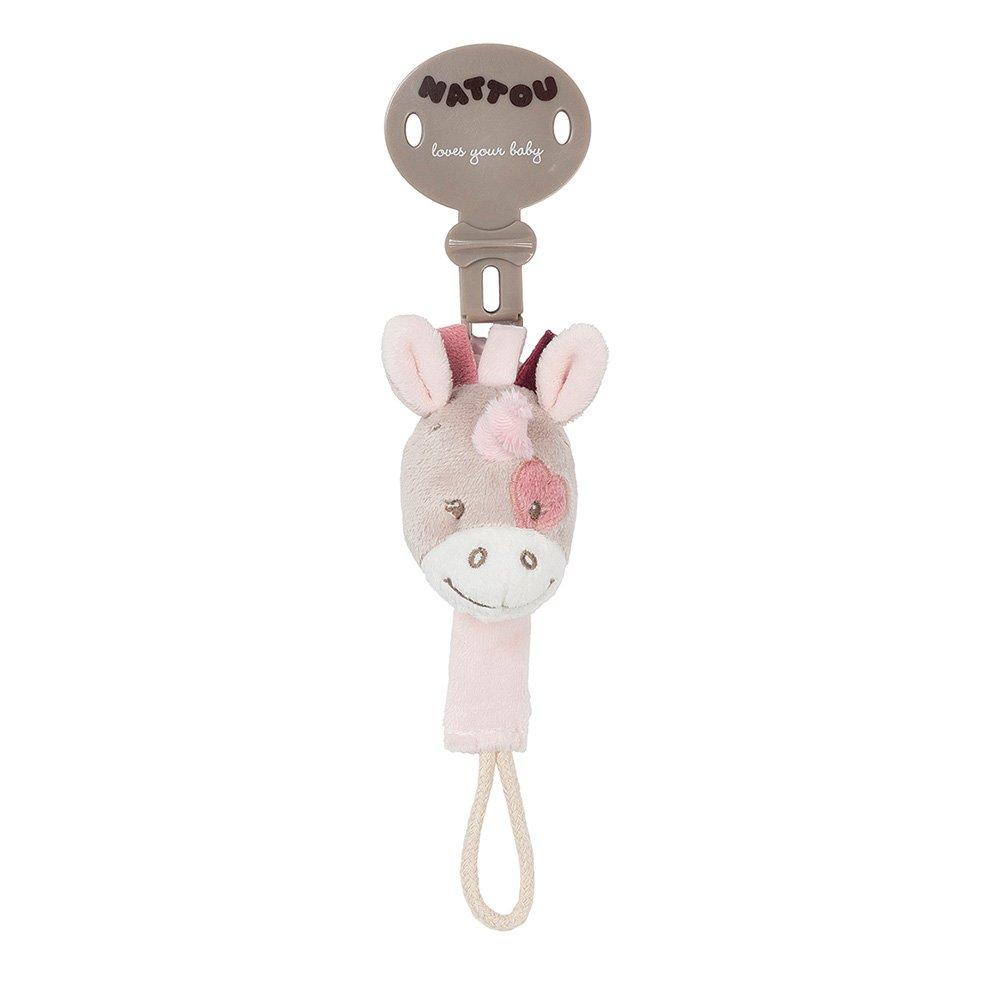 MIsha 4Pcs Cadena chupete cadena chupete bebe clip clip de metal cuerda poli/éster algod/ón cadena