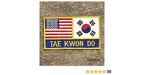 Tae Kwon Do w// American and Korea Flag Patch