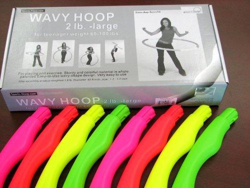 """Sports Hoop for Excercise: Wavy Hoop 2B - 1.8lb (Dia.40.5"""") Large, Exercise Hula Hoop"""