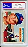 Bob Lemon Authentic 156 Topps Cleveland Indians Baseball Card - Certified Authentic